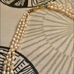 Pearl Jewelry - Genuine Seed Pearl Necklace VTG